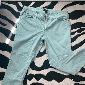 WHBM Baby Blue Skinny Crop Jean